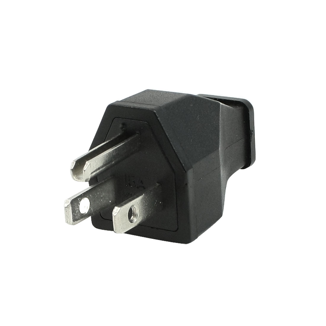 AC 125V 15A 3 Terminals Male Power Cord Connector Black Japan US Plug