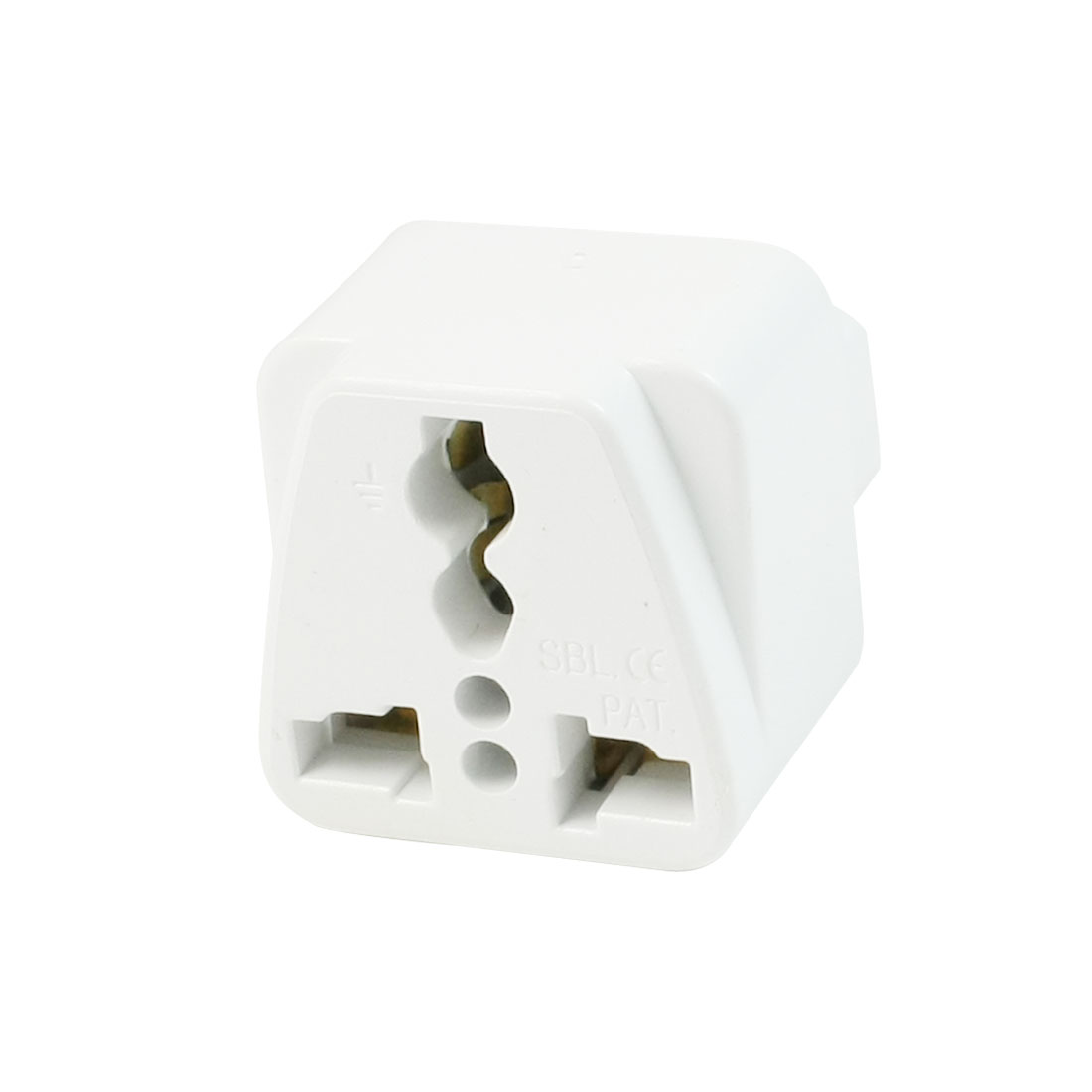 UK AU US Socket to C14 Plug Travel Power Adapter White AC 250V/10A 125V/15A