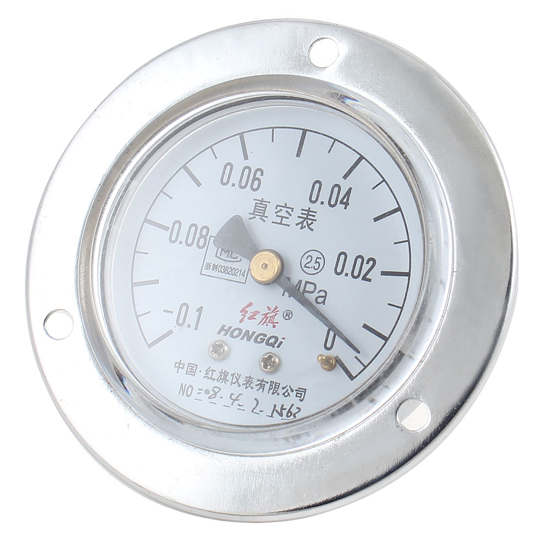 Home Office White Dial -0.1-0 Mpa Round Compound Gauge