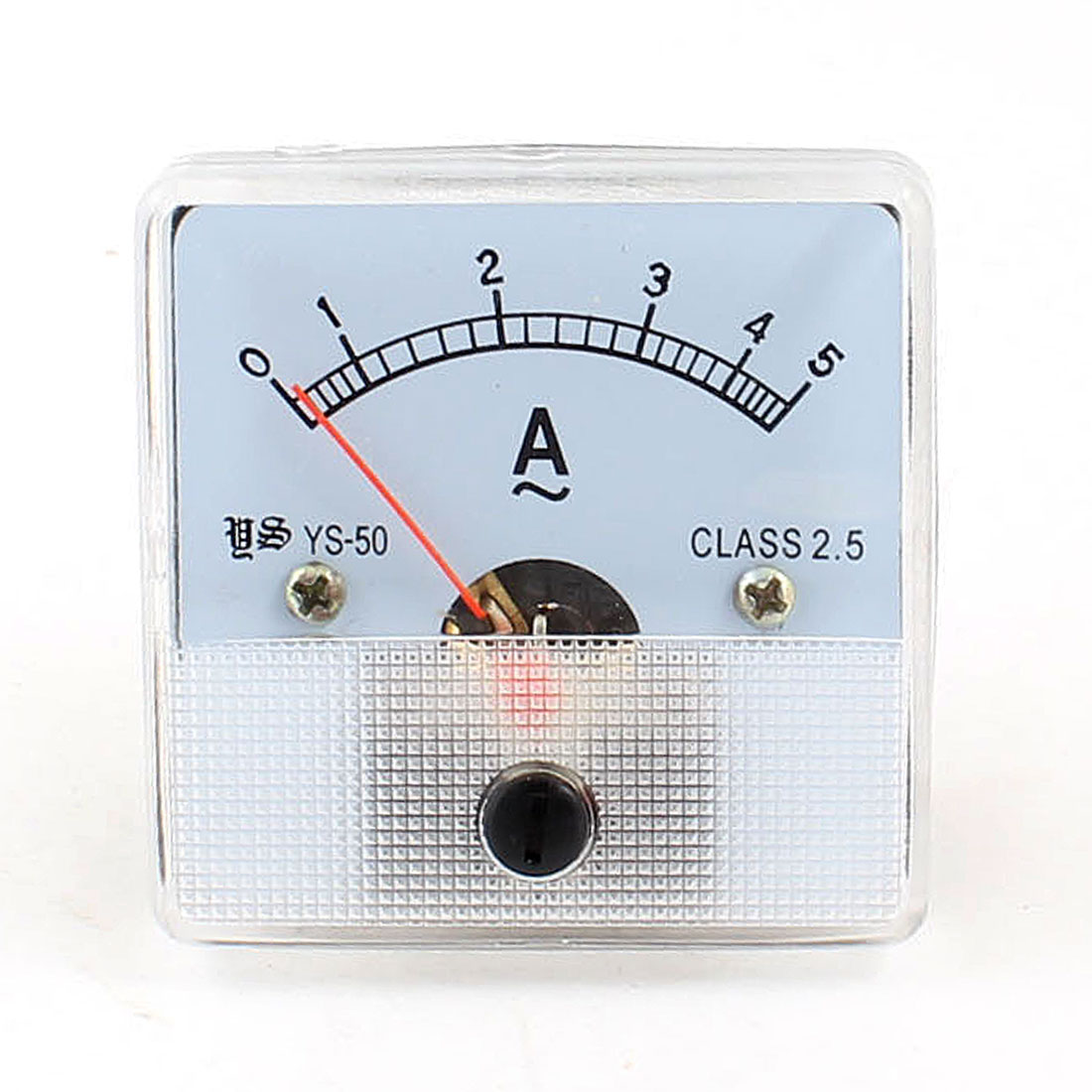 Class 2.5 Accuracy AC 0-5A Panel Ampere Meter White w Screw