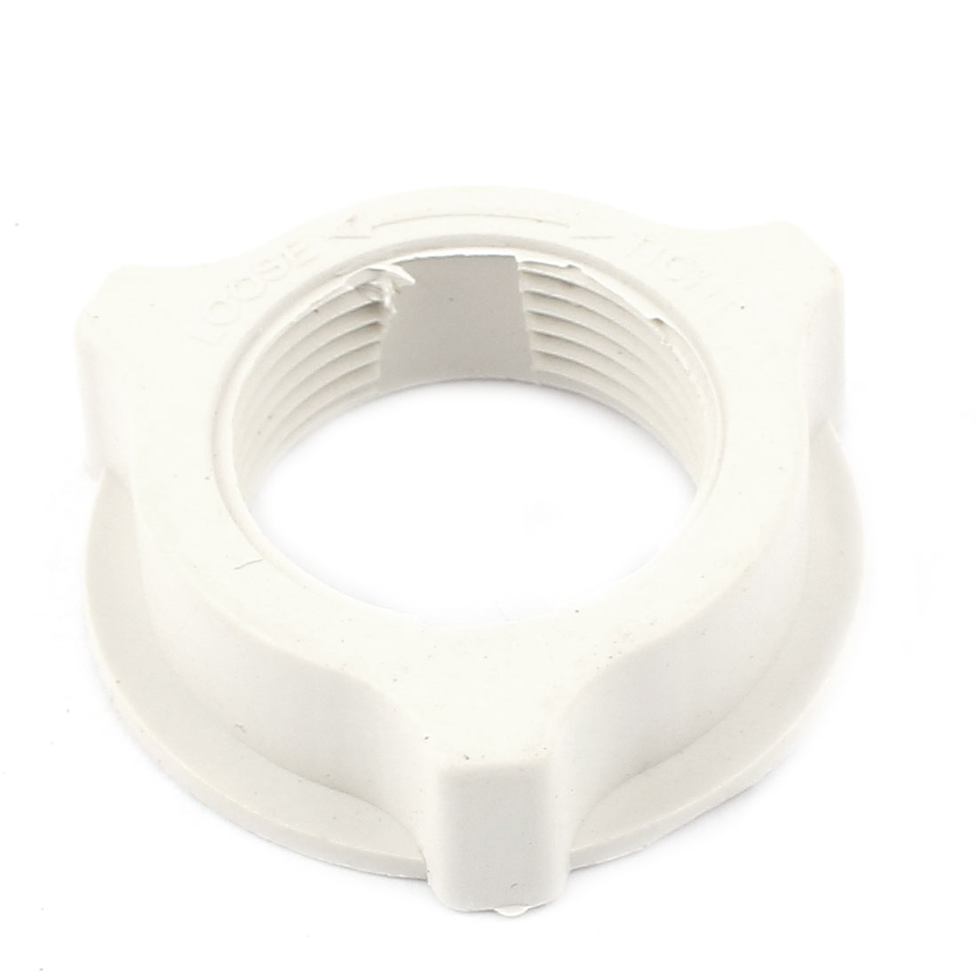 White Plastic 31mm Thread Dia Fastening Screw Nut Fan Guard Fastener