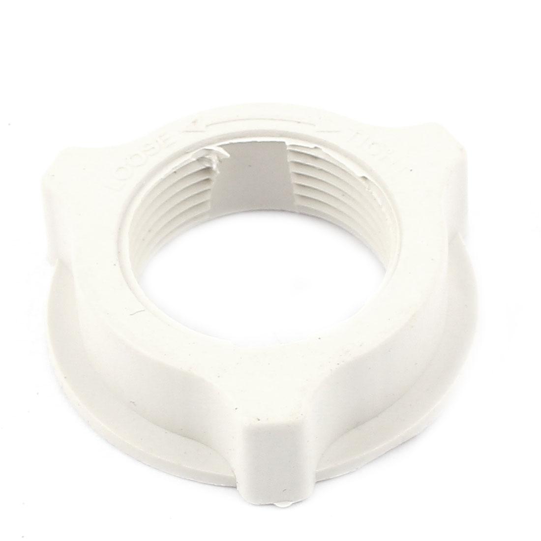 White Plastic 31mm Thread Dia Fastening Screw Nut Fan Guard Fastener