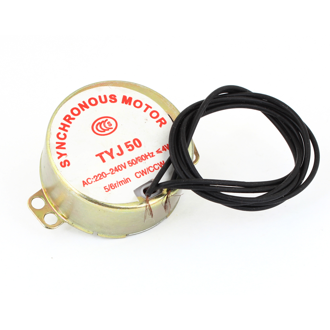 AC 220V-240V 5/6RPM 4W 50/60Hz CW/CCW 7mm Shaft Dia Fan Synchronous Motor