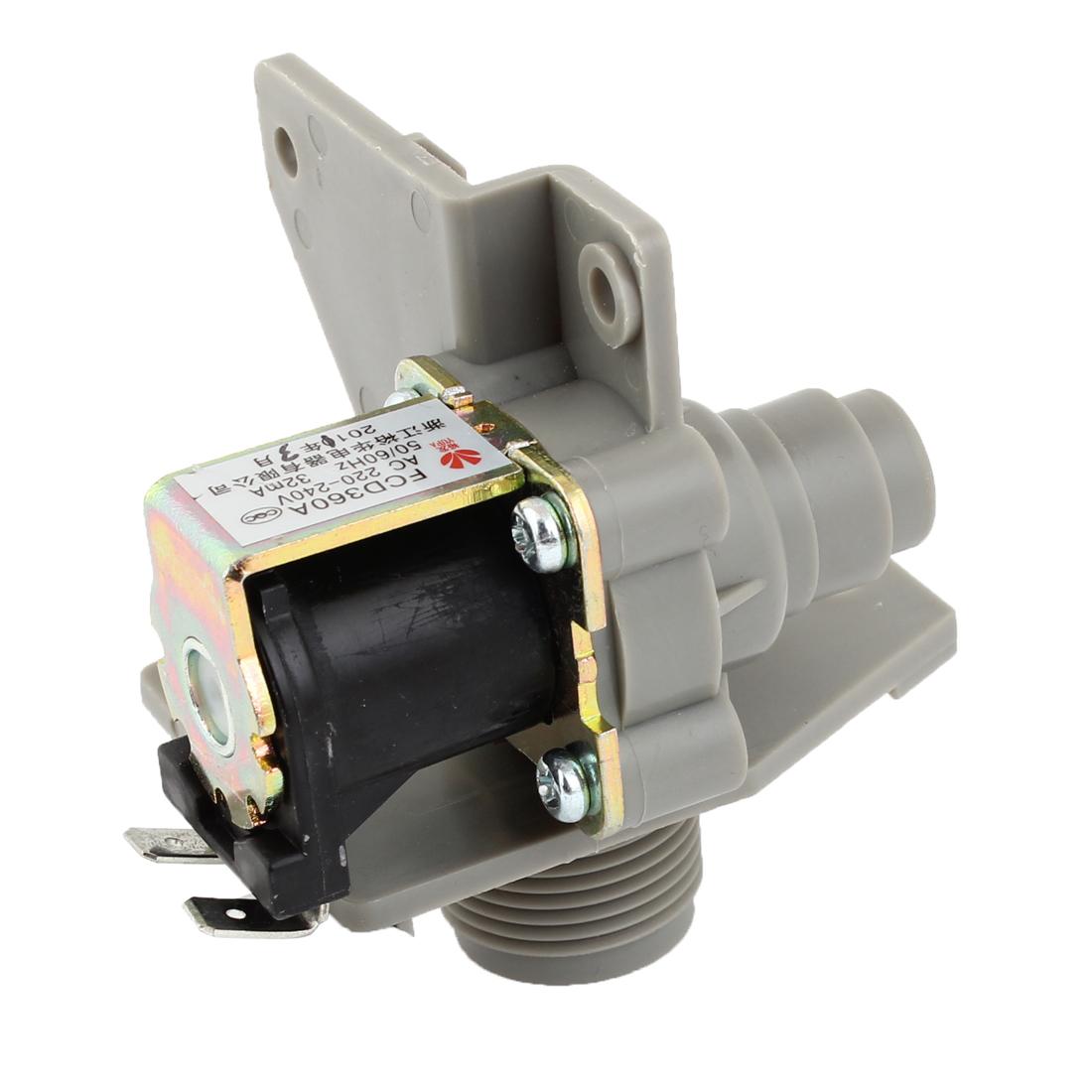 AC 220/240V 26mm Male Thread Washer Washing Machine Water Inlet Solenoid Valve