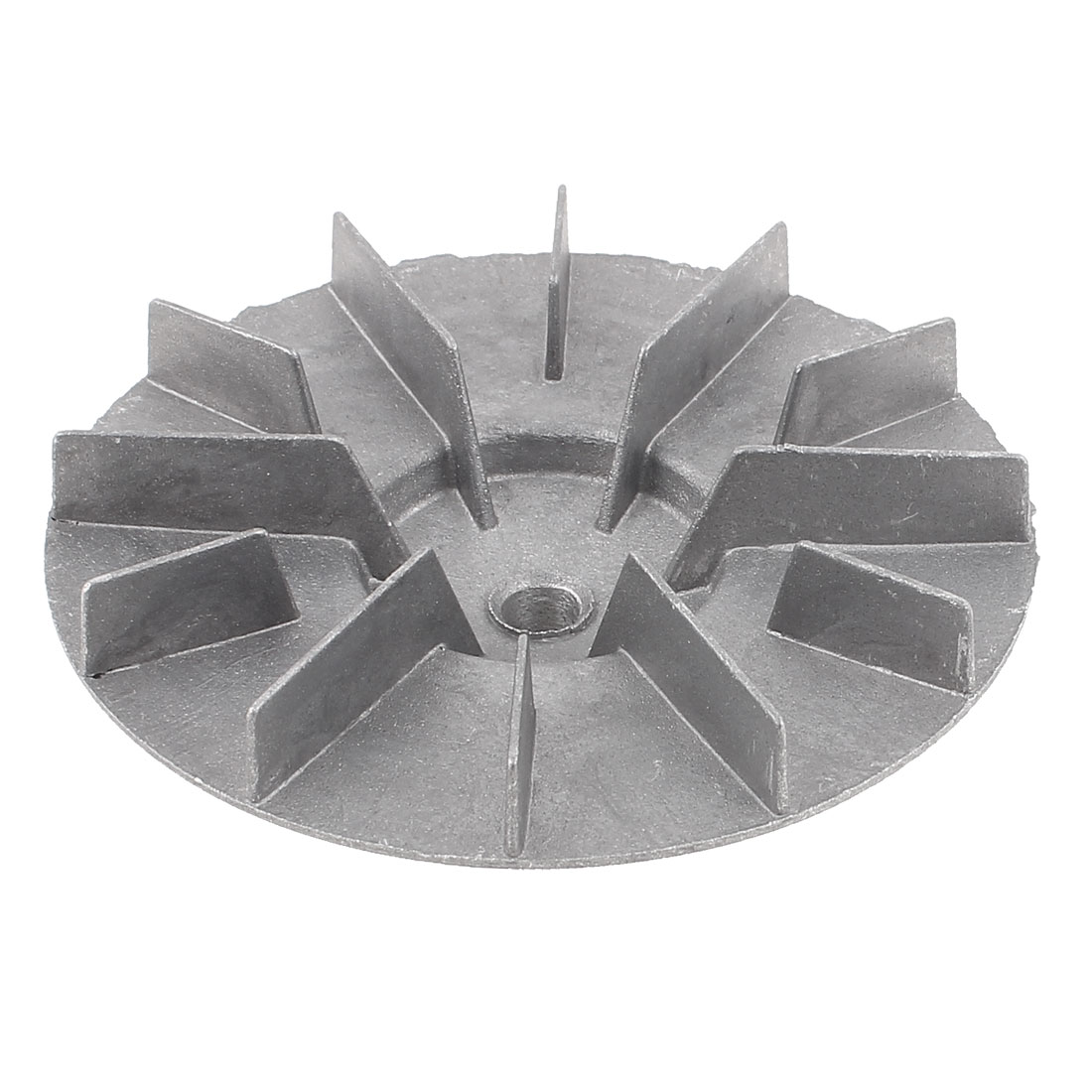 10mm Bore Diameter Silver Tone Plastic Blower Fan Vane Wheel