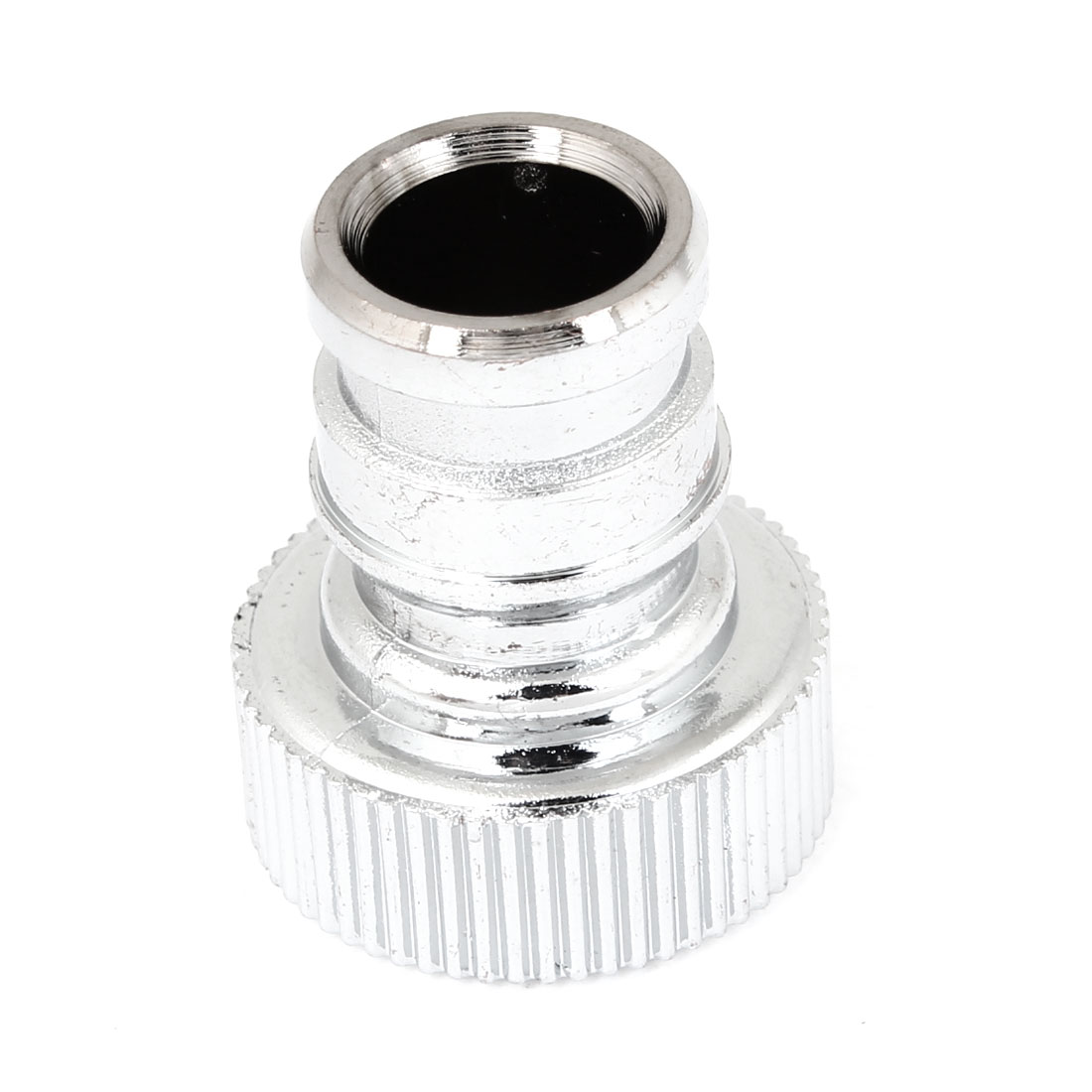Replacing White Plastic Straight Water Filter Connector Silver Tone