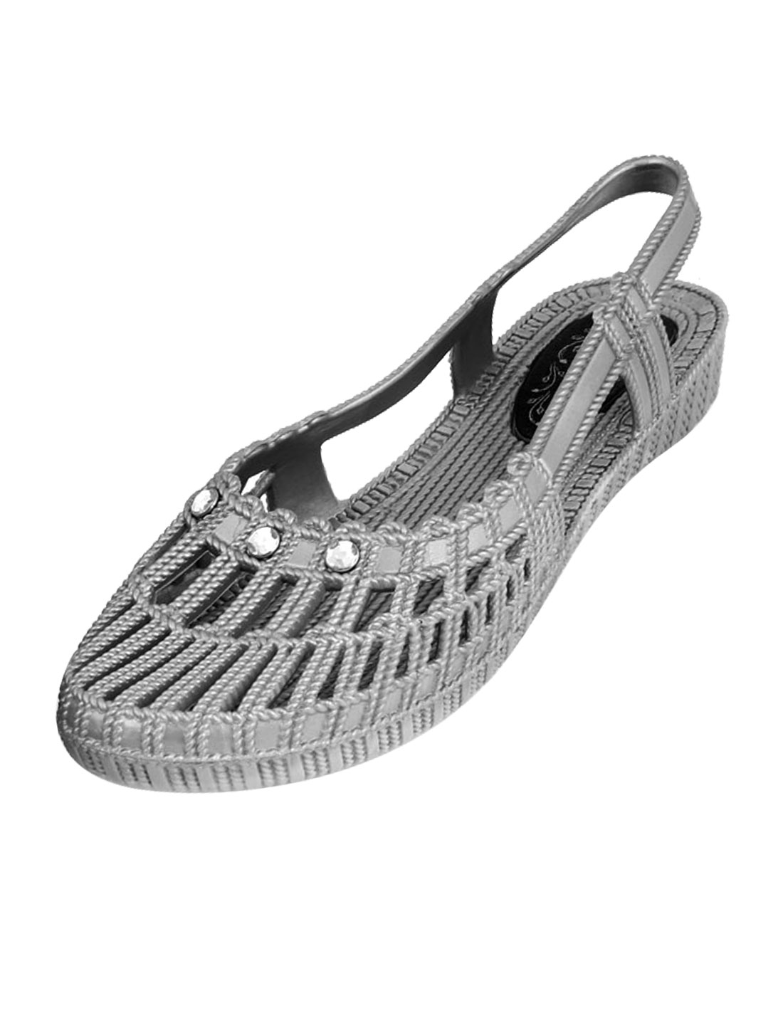 EU Size 38 Gray Footwear Eva Foam Garden Sandal for Lady