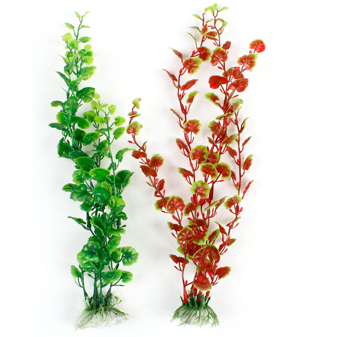 Red Green Water Plants Decor 2 Pcs for Fish Tank Aquarium Aquascaping