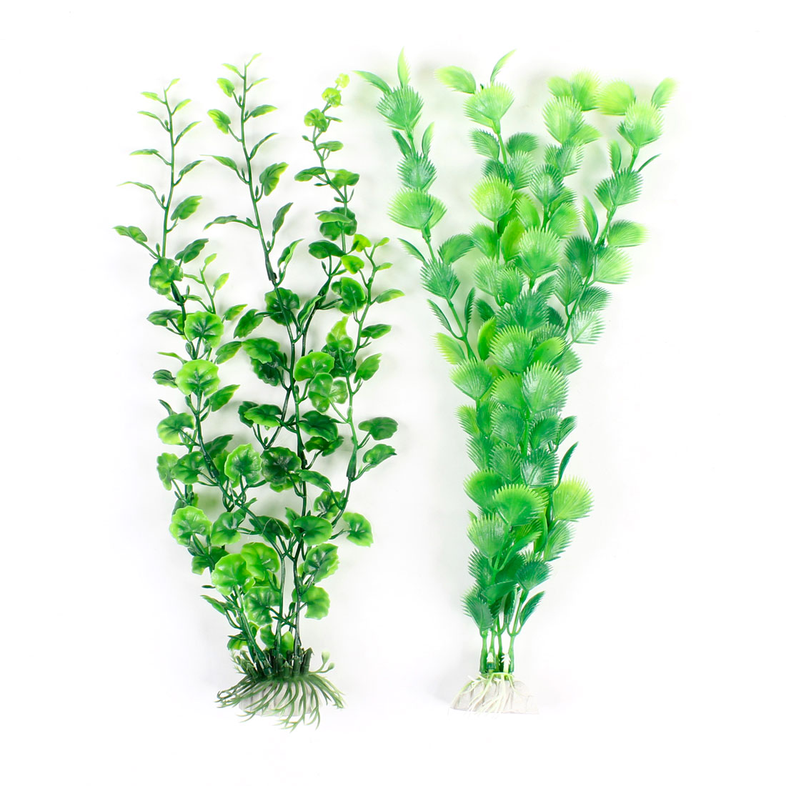 2 Pcs Green Plastic Water Plants Decor for Aquariums Fish Tank