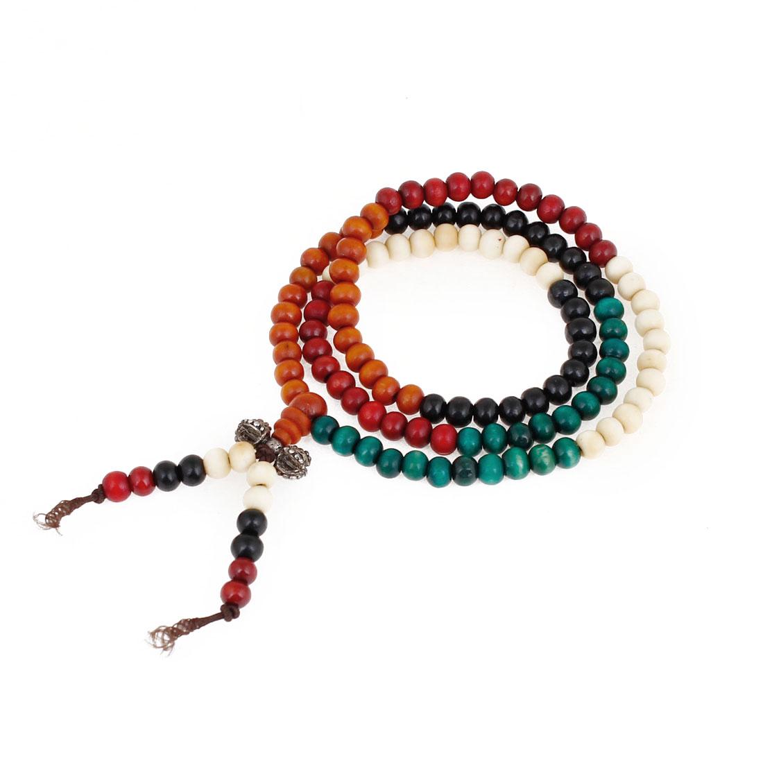 Adult Mulit Color Plastic Beads Elastic Hand Catenary Bracelet Decoration