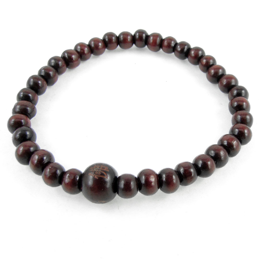 Burgundy Plastic Round Buddha Beads Elastic Hand Catenary Decoration