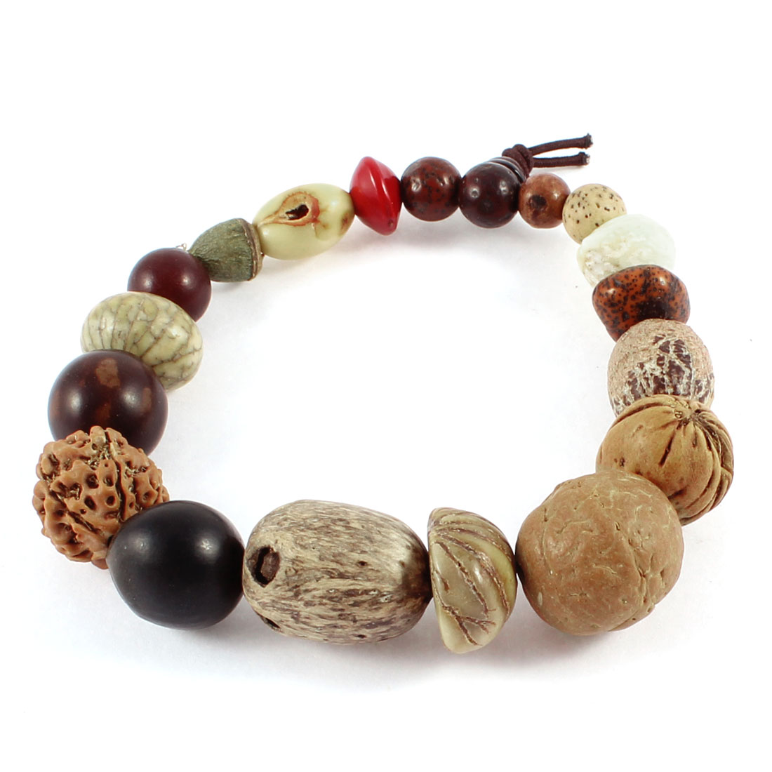 Bodhi Tree Seed Beads Tibet Buddhism Prayer Elastic Bracelet
