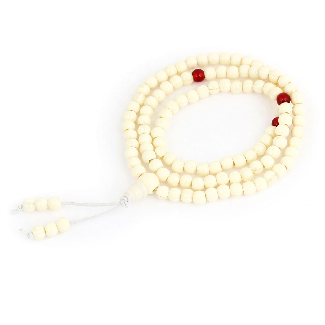 Lady Ivory Plastic Beads Stretch Bracelet Hand Catenary Ornament Jewelry Gift