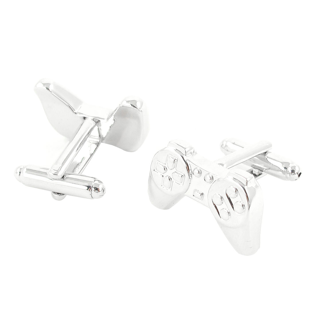 Silver Tone Metal Playstation Design Cufflinks Cuff Links Pair