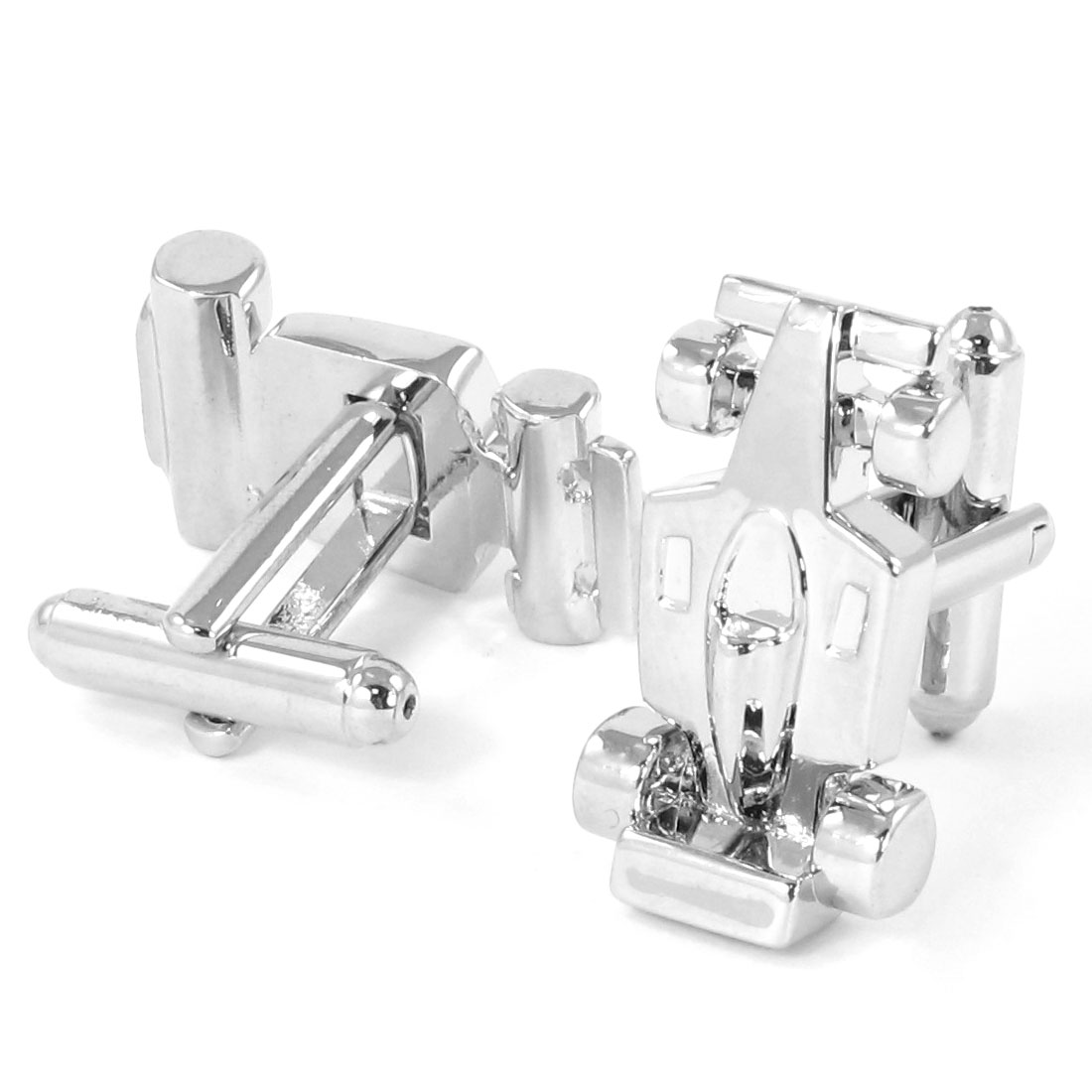 Pair Men Metallic Auto Car Design Tuxedo Shirt Decor Cufflinks