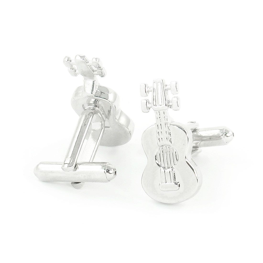 Pair Gift Wedding Guitar Shaped Cuff Links for Men Groom