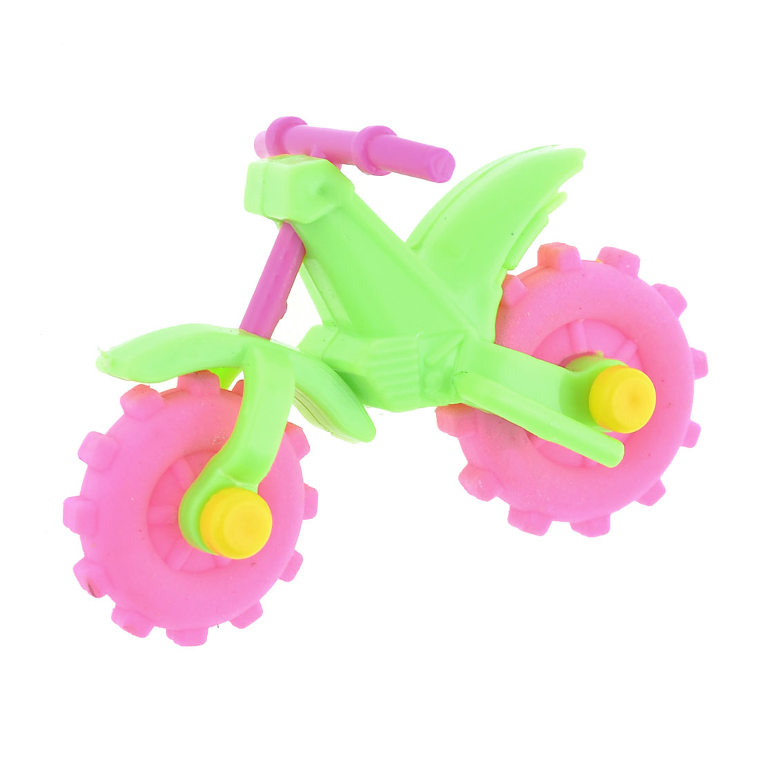 School Stationery Motorcycle Design Pink Rubber Erasers for Students