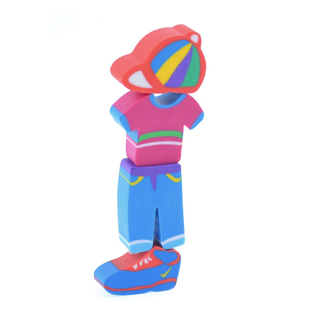 4 Pcs Boy Clothing Set Hat Shoes Shaped Eraser for Children