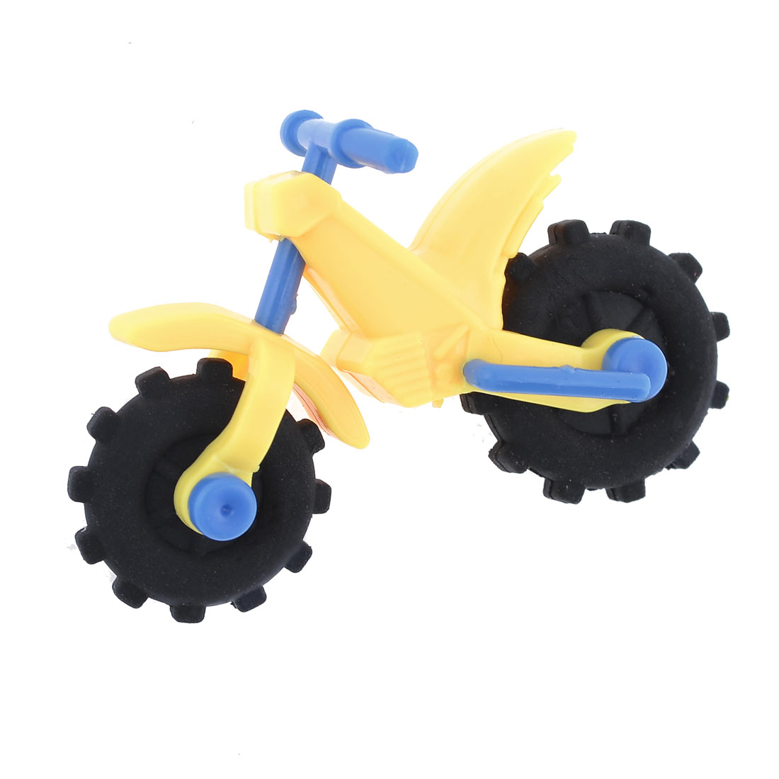 Mini Motorcycle Design Black Rubber Wheel Eraser Toy for Children