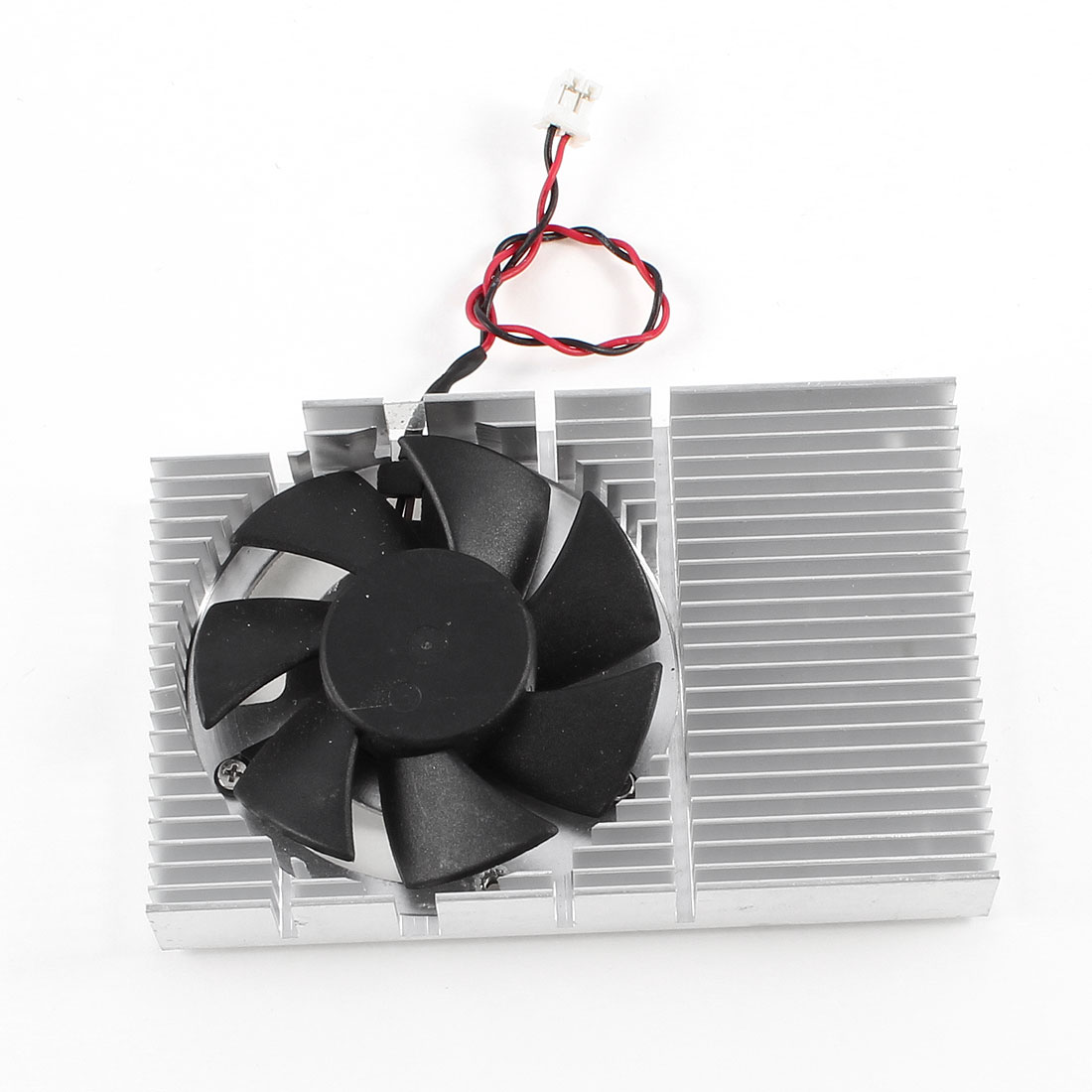 DC 12V 0.05A Silver Tone Plastic Shell Cooling Fan 46mm x 46mm