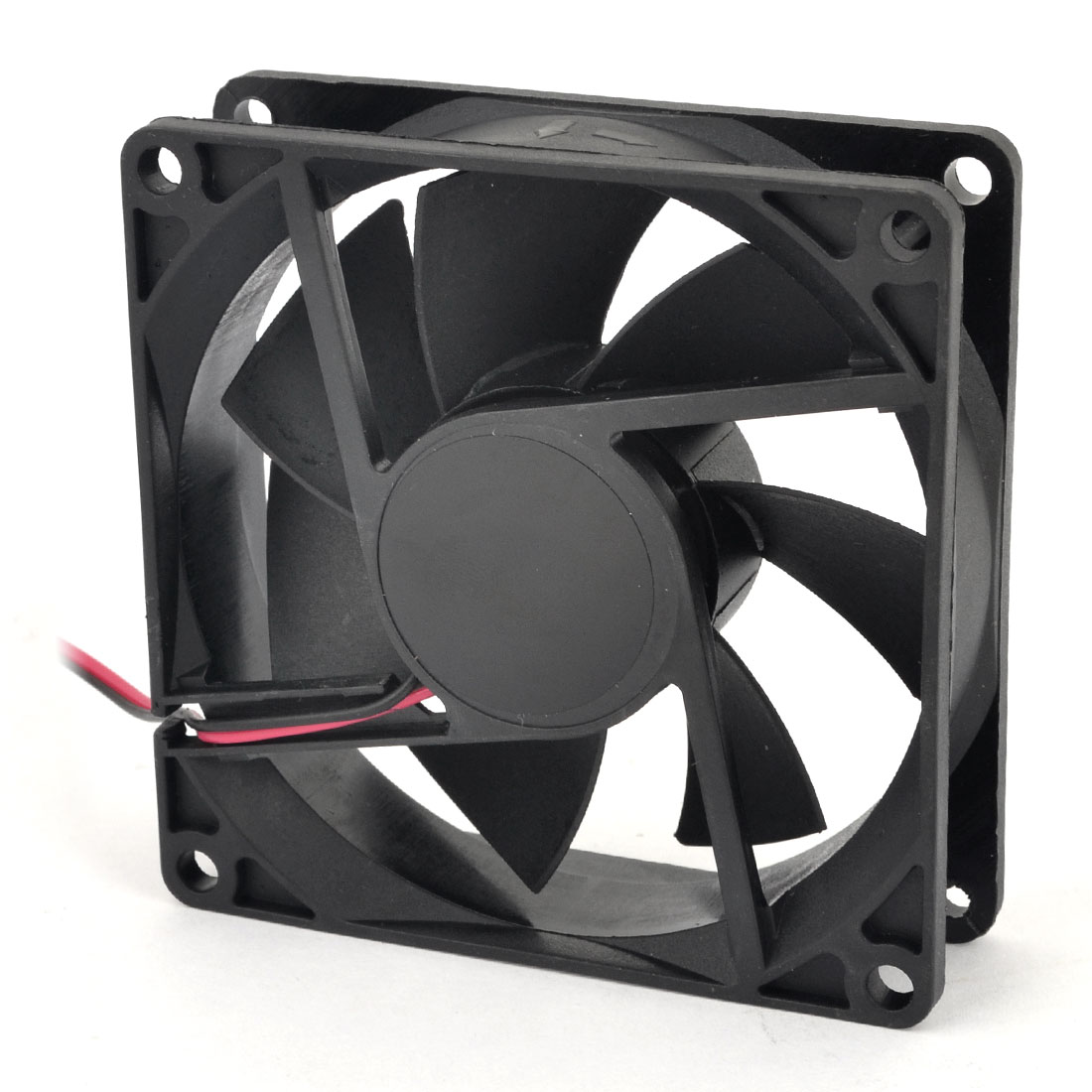 DC 12V Black Plastic Shell Cooling Fan 80mm x 80mm for PC Computer