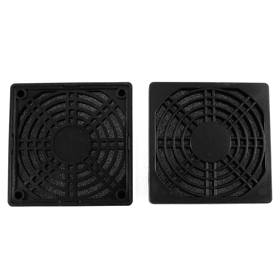 2Pcs PC Case Fan 8.5cm 85mm Plastic Filter Dust Guard Dustproof Mesh Black