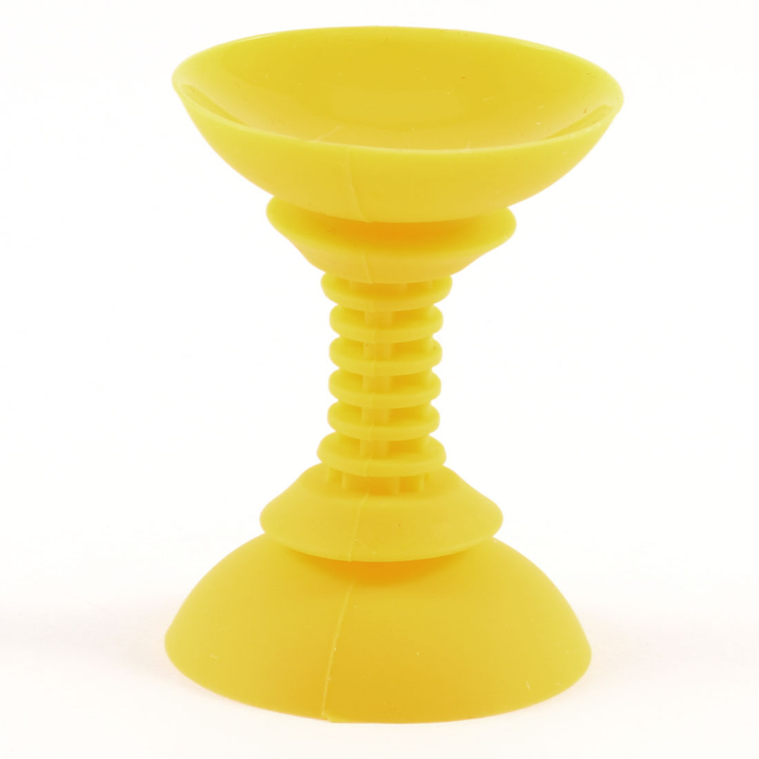 Yellow Soft Silicone Double Side Suction Cup Sucker Support for Cell Phone