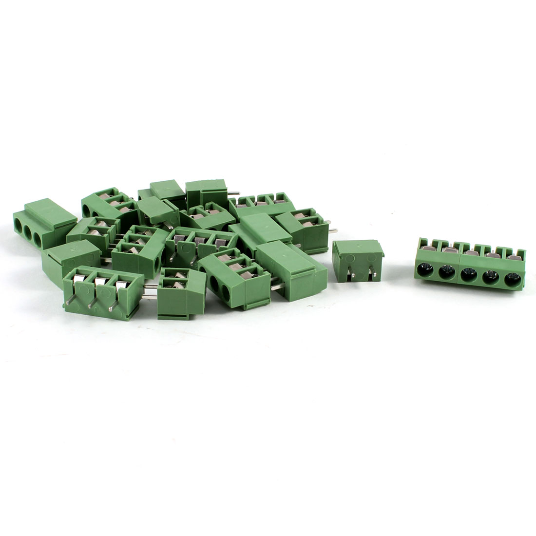 10Pcs 5 Pole 5mm Pitch PCB Mount Screw Terminal Block 8A 250V