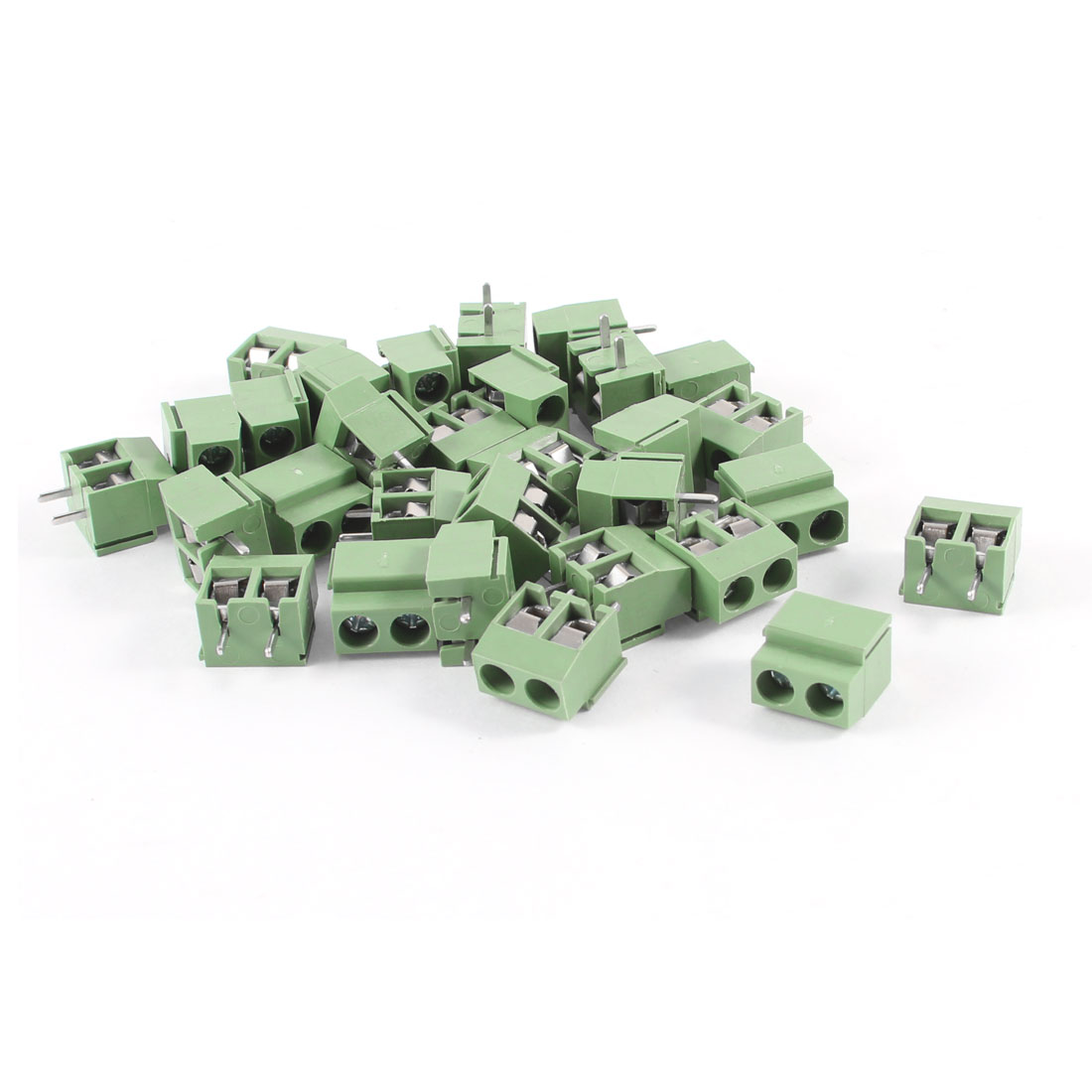 30Pcs 2 Pole 5mm Pitch PCB Mount Screw Terminal Block 8A 250V