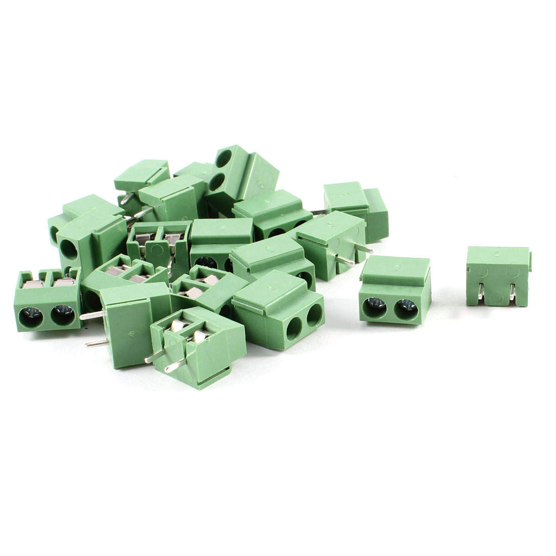 20Pcs 2 Pole 5mm Pitch PCB Mount Screw Terminal Block 8A 250V