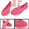 Fuchsia Lady Sandal Eva Foam Floral Pattern Garden Shoes US 8.5