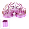 6.5cm High Child Shiny Electroplate Fuchsia Plastic Slinky Spring