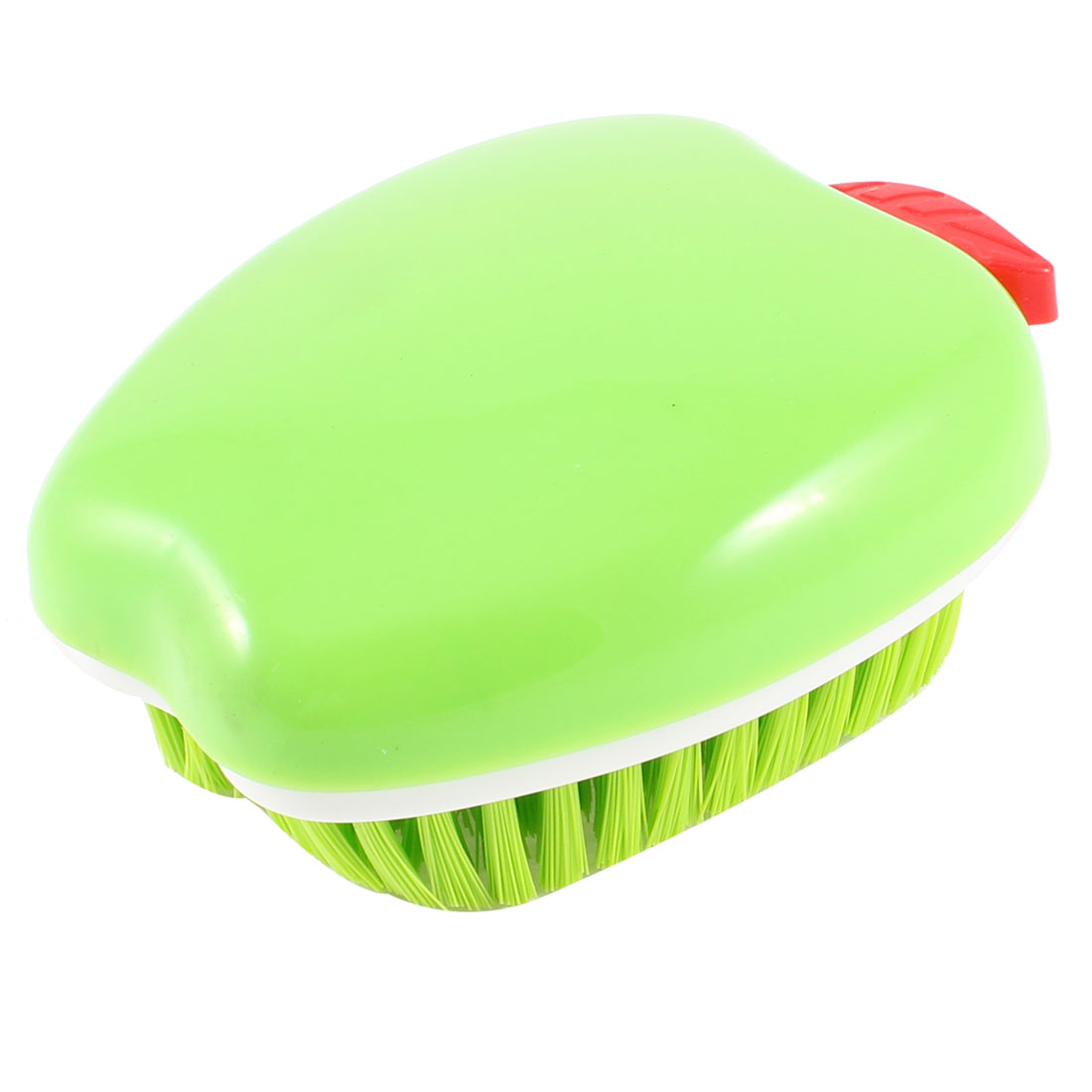 Green Apple Design Plastic Bristles Clothes Floor Washing Scrubbing Brush