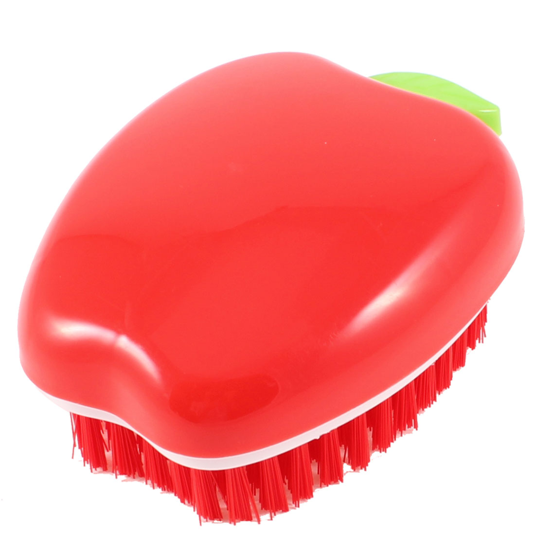 Red Plastic Apple Shaped Clothes Shoes Scrubbing Washing Brush