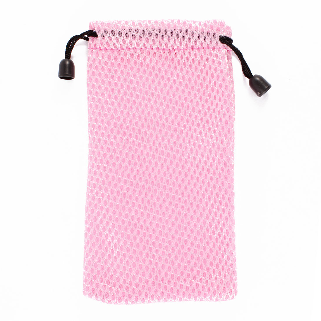 Drawstring Closure Nylon Mesh Glasses Eyeglasses Phone Pouch Case Pink