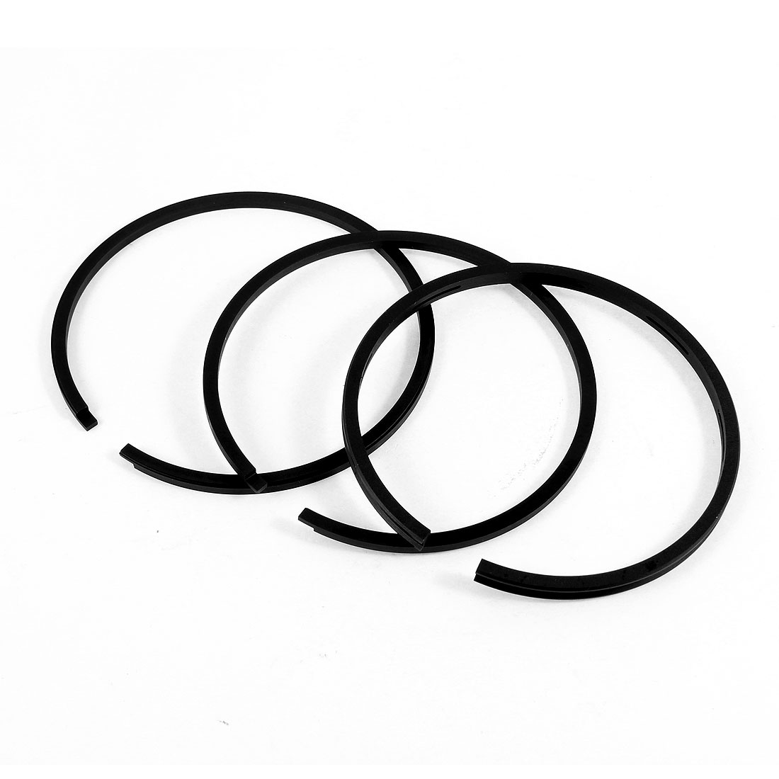 Black Metal 87mm Inside Diameter Balance Sealing Piston Ring Set 3 in 1