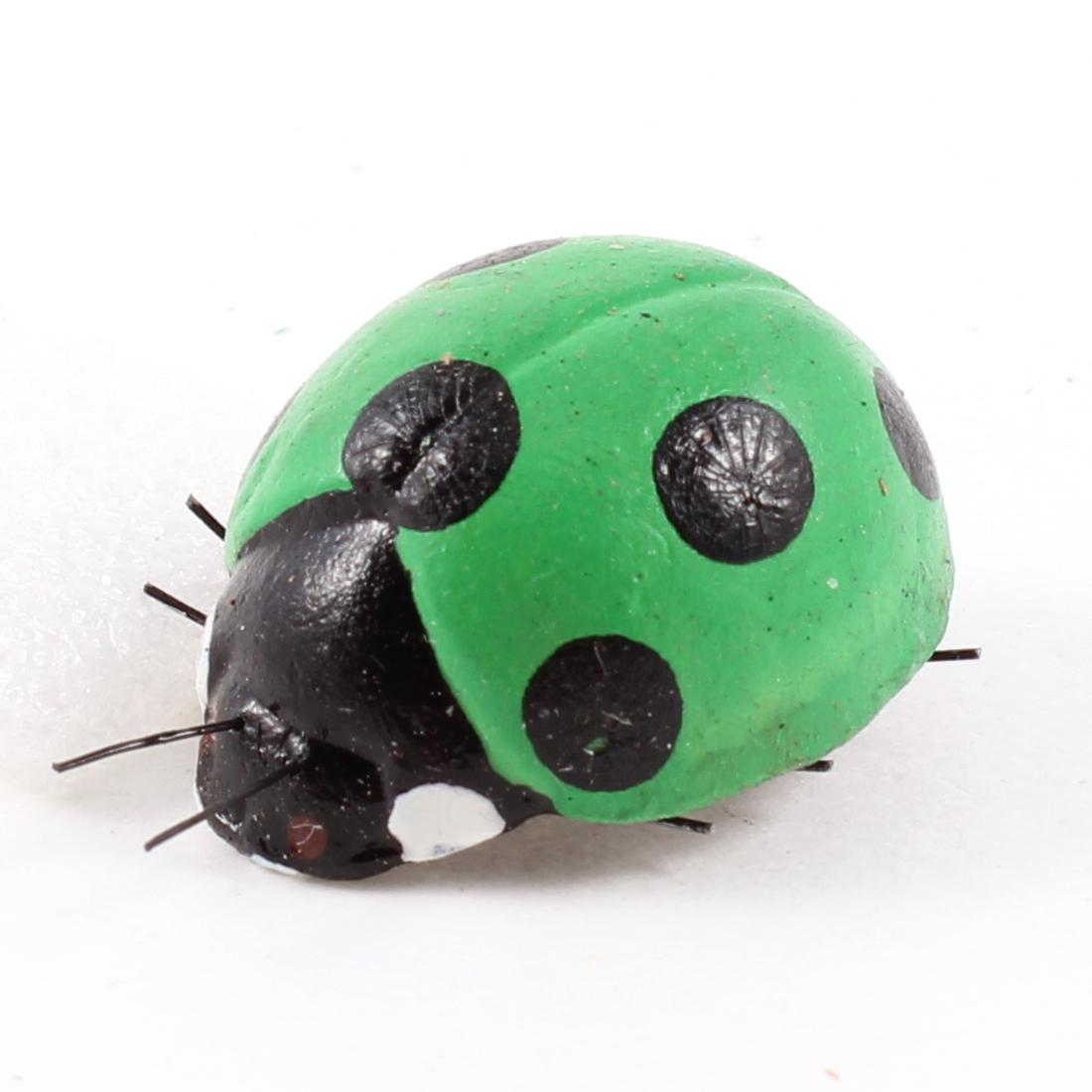 Green Black Ladybug Shaped Fridge Refrigerator Magnetic Stickers Decoration