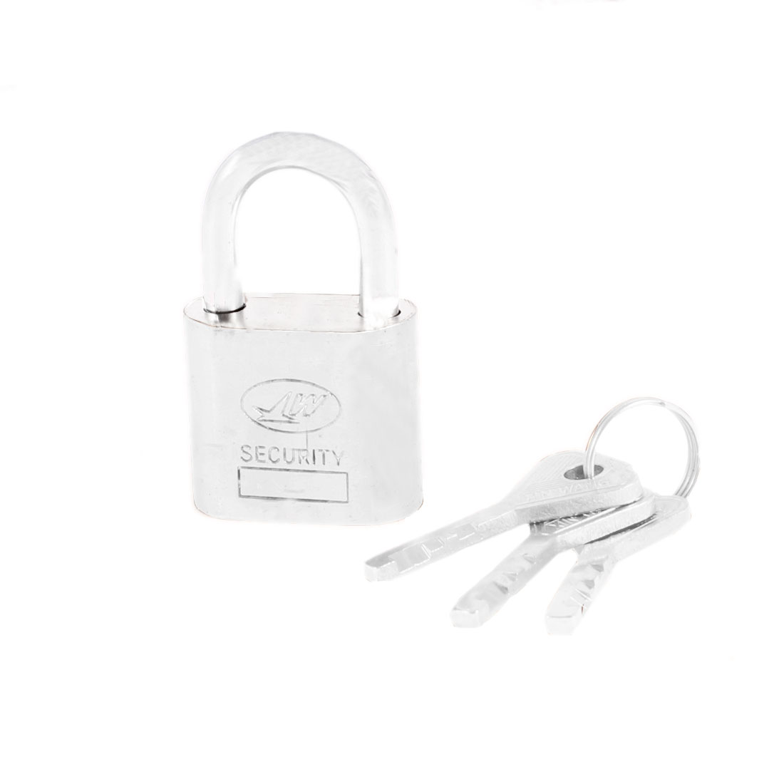 Family Security Door Window Drawer Lock Padlock Silver Tone 50mmx30mm w Keys
