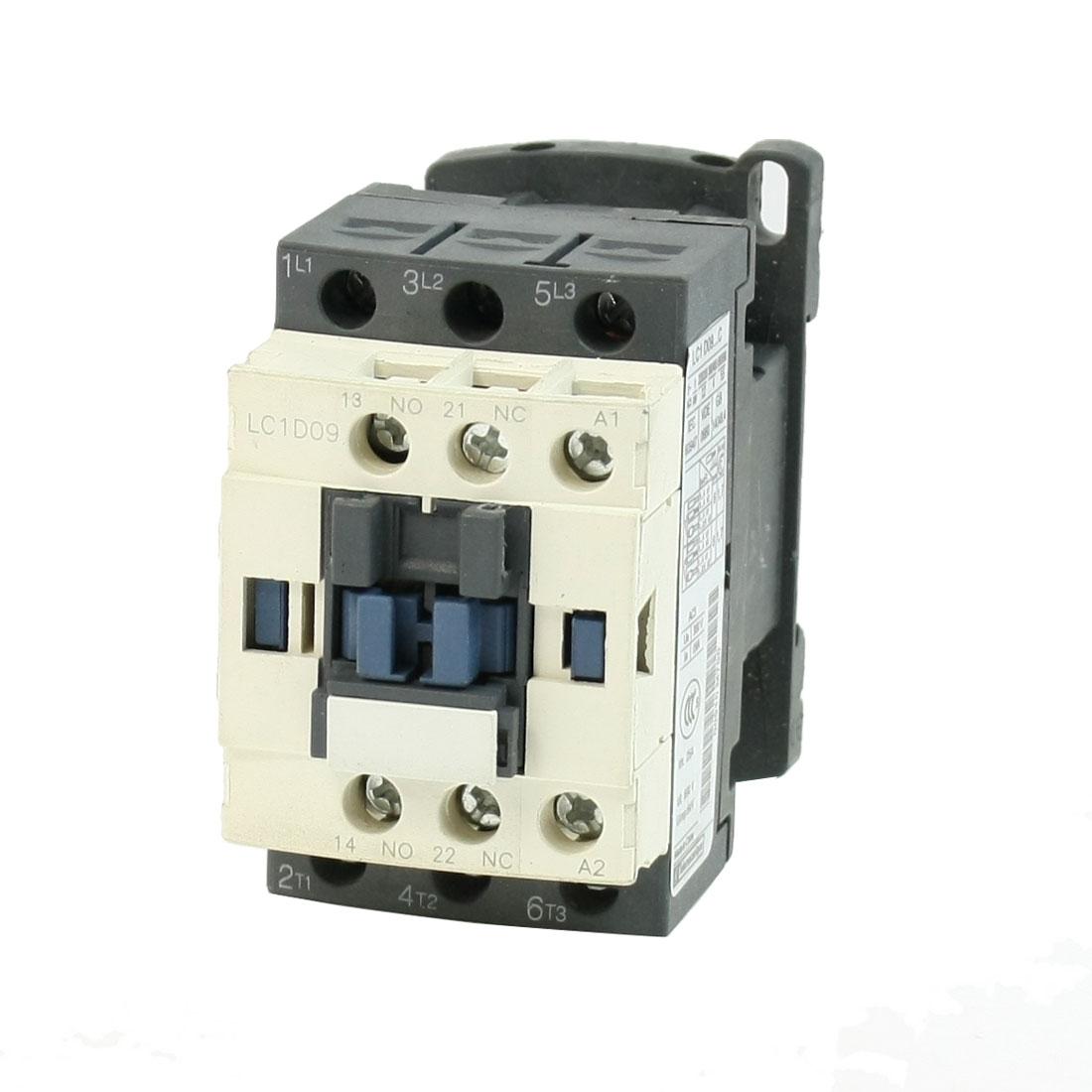 LC1D09 AC Contactor 36 Volts 50/60Hz Coil 3-Pole NO NC