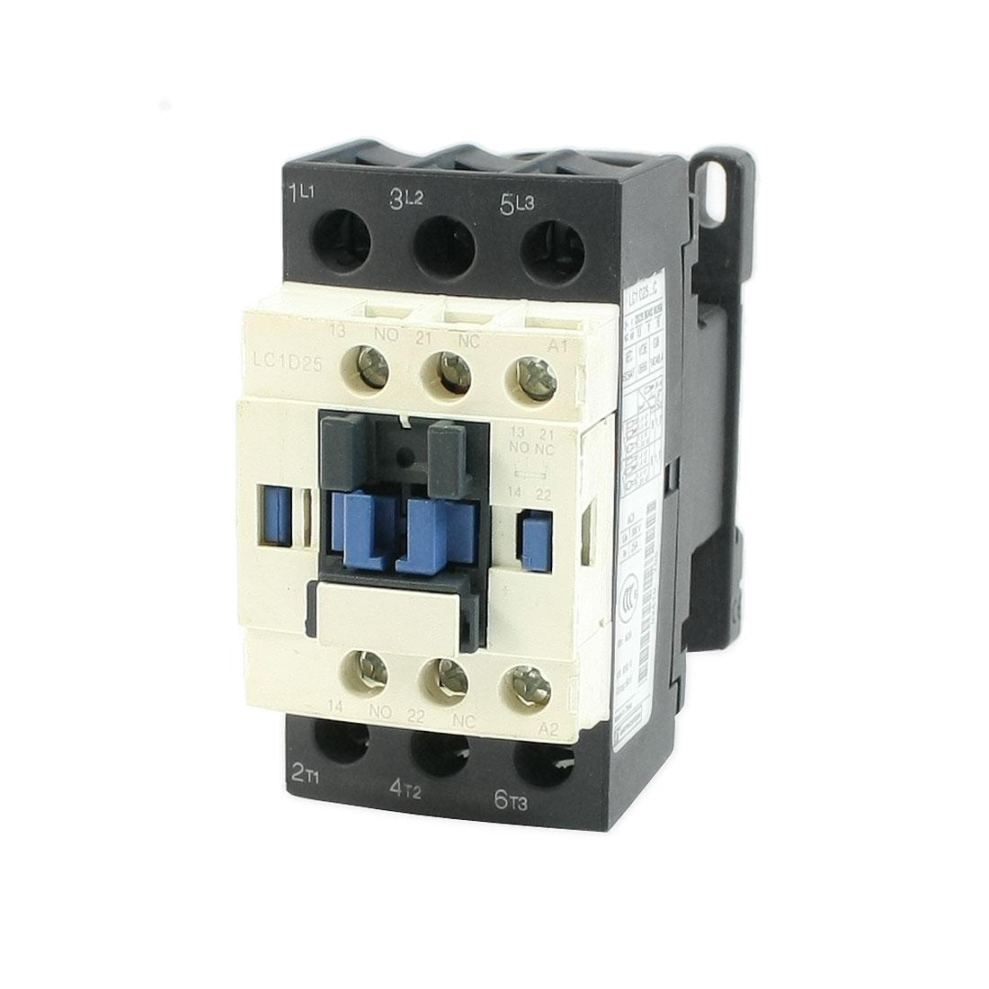 LC1D25 AC Contactor 110V 50/60Hz Coil 3-Pole NO NC