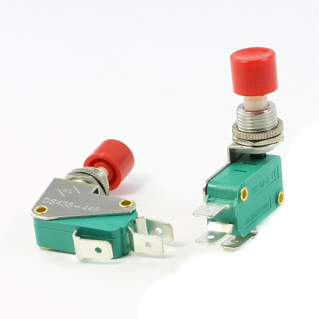 2 Pcs SPDT 1NO 1NC Red Button Actuator Momentary Miniature Micro Switch
