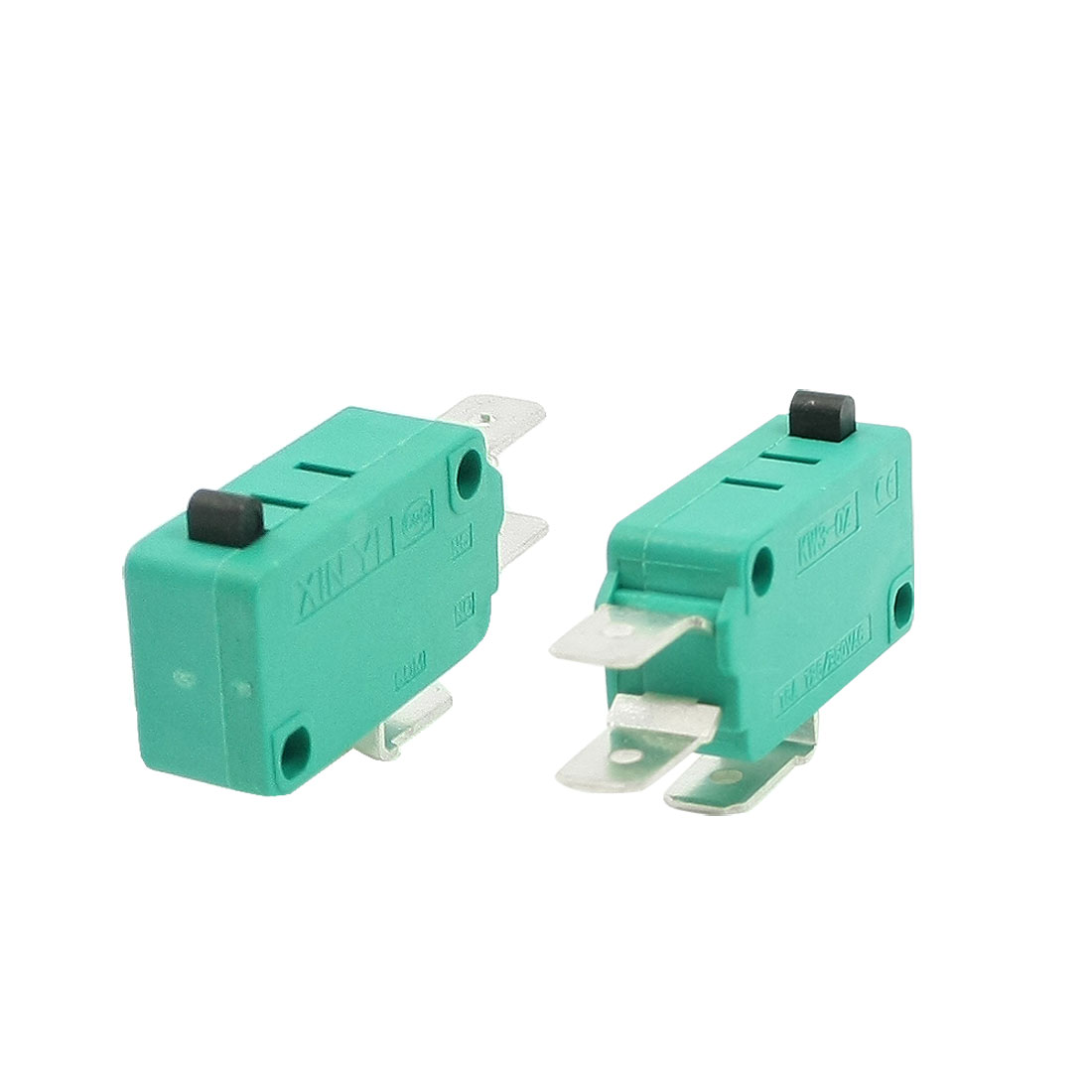 3 Pcs AC 250V 16A SPDT 3-Terminal Momentary Miniature Micro Switch Green