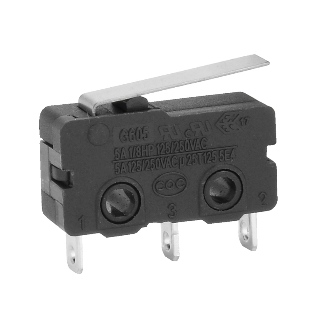 G605-150S01A 10 Pcs AC 250V 5A SPDT 1NO 1NC Short Straight Hinge Lever Mini Micro Switch