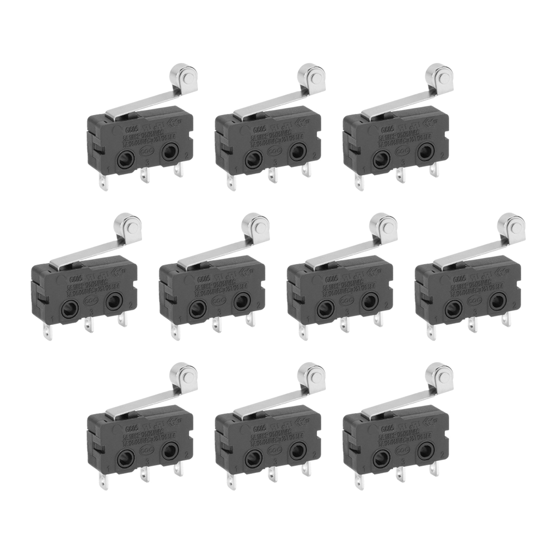 10 Pcs KW12 Micro Limit Switch Roller Lever Subminiature SPDT Snap Action LOT