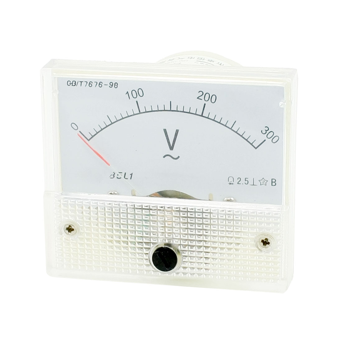 AC 0-300V Class 2.5 Fine Tuning Rectangle Analog Voltage Meter Voltmeter