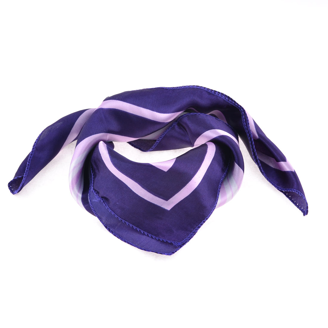 Airhostess Light Purple White Polyester Magic Scarf Wrap Neckerchief