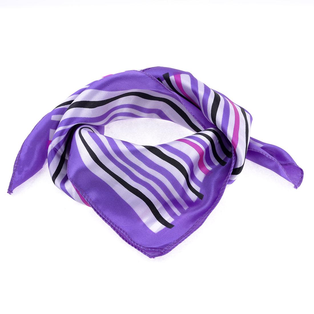 Office Lady Colorul Stripe Pattern Magic Neck Scarf Neckchief