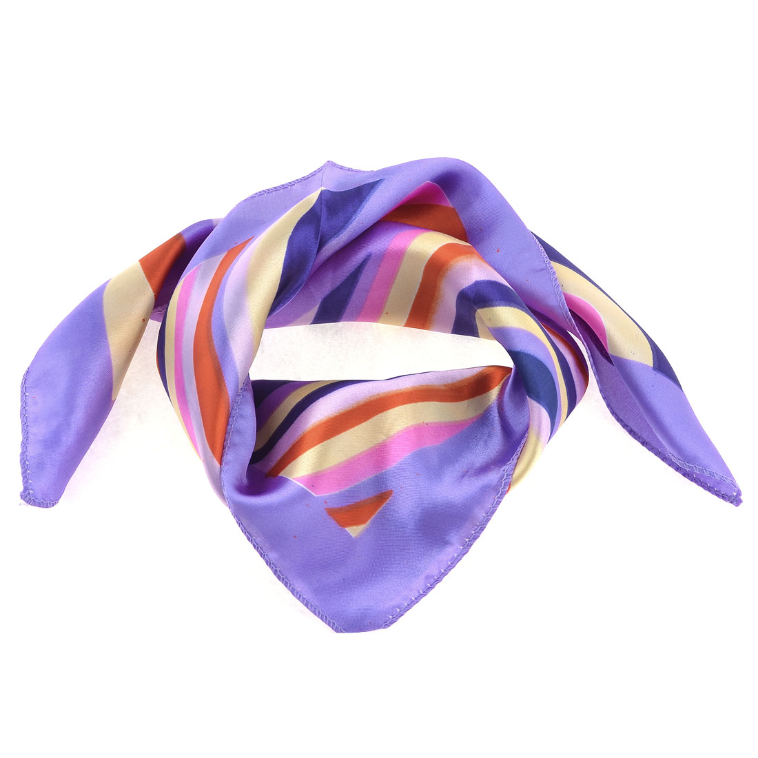 Airhostess Colorful Block Polyester Magic Scarf Wrap Neckchief