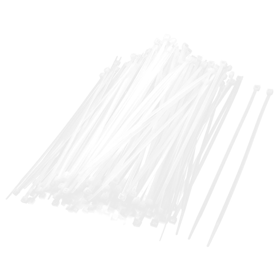 500 Pcs 4x300mm Locking Nylon Fastener Pack Cable Zip Tie Teeth Grip White