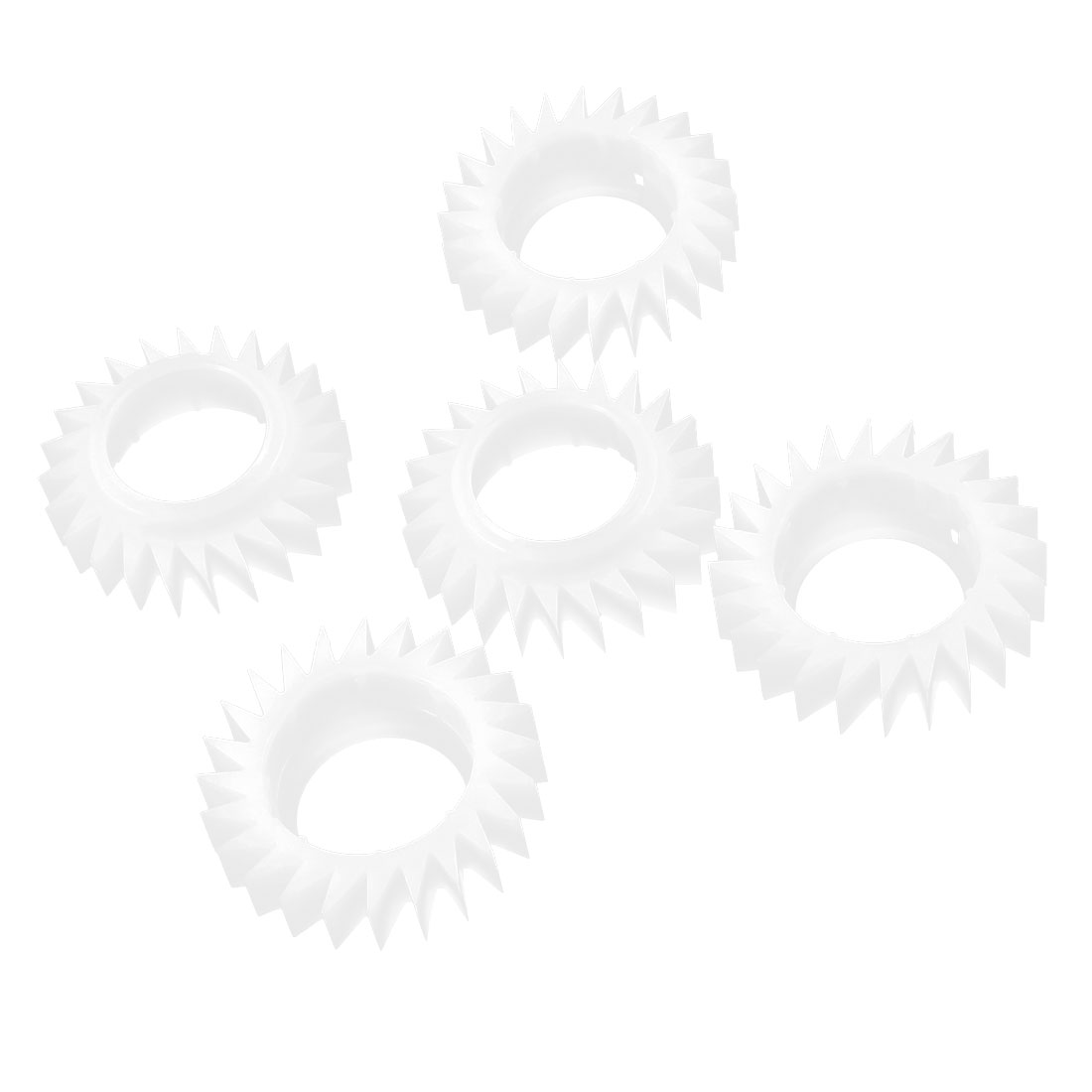 5Pcs White Replaceable 11mm Wide 24 Teeth Ratchet Wheel for LG Washing Machine